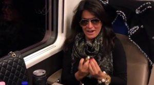 Aida mentre viaggia verso il GF
