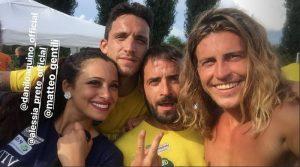 GF15: Alberto Danilo e Matteo alla partita del cuore