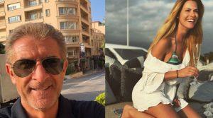 Ezio Greggio e l'ex Velina Thais Souza Wiggers
