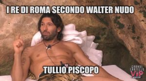 GFVip I sette re di Roma secondo Walter(video)