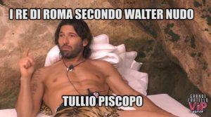 GFVip I sette re di Roma secondo Walter(video)