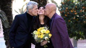 Sanremo 2019, Baglioni presenta Bisio e Virginia Raffaele.
