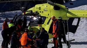 Scontro sulle piste da sci, grave bimbo di 9 anni