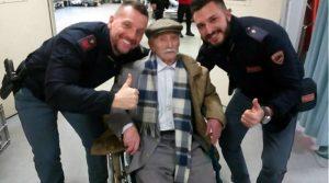 Nonno Giuseppe, 102 anni, si perde di notte al gelo