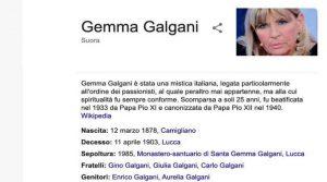 Gemma Galgani suora, da Uomini e Donne al convento
