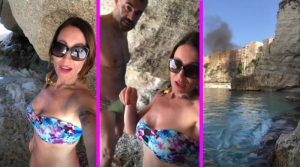 Uomini e Donne, Denise riprende un incendio (Video)