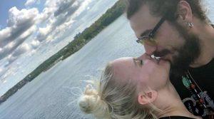 Dani Osvaldo e Veera Kinnunen fanno coppia.